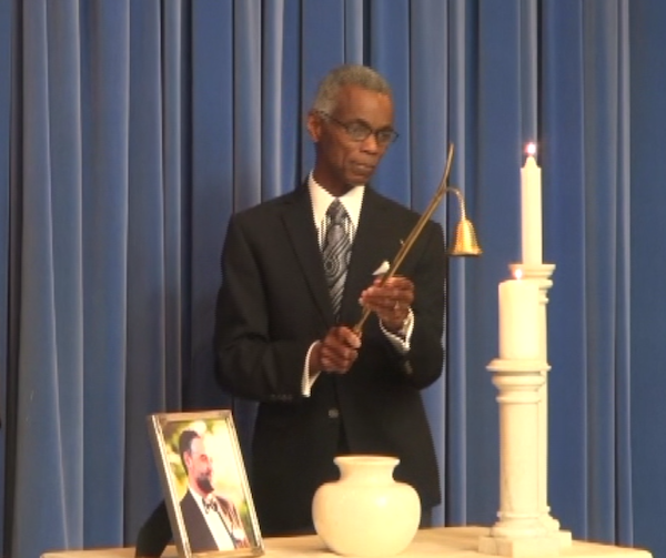Funeral service - candle ceremony