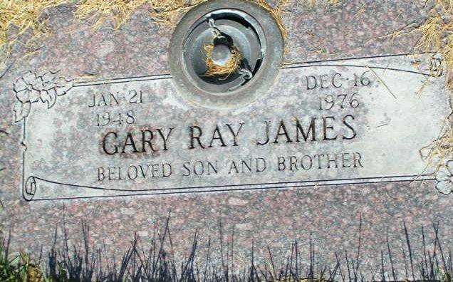 Gary James headstone
