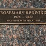 Rosemary Rexford io- Memorial Plaque